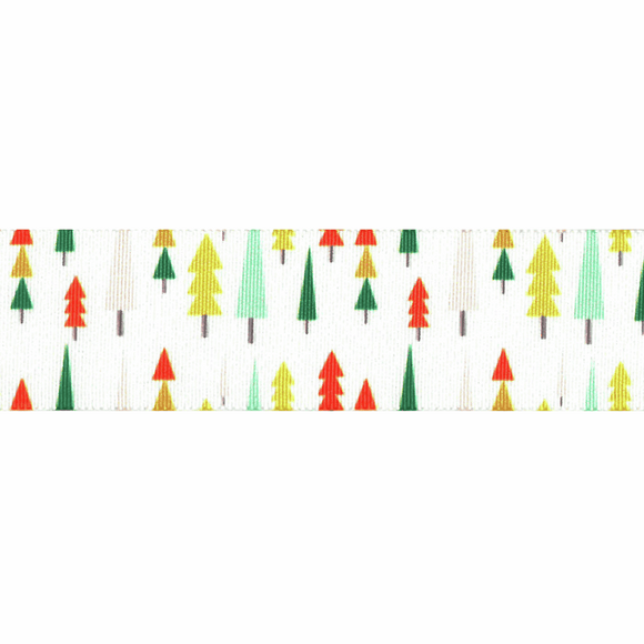 Ribbon 25mm Christmas Funky Forest