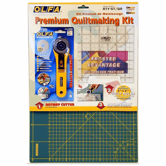 Olfa Quilt Making Kit - Cutter, Ruler and Mat