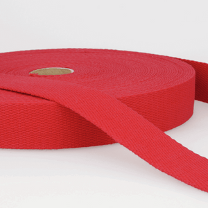 Cotton Webbing Tape 25mm in Red