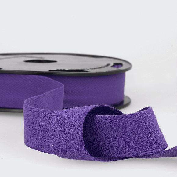 Twill Tape 100% Cotton 25mm Purple
