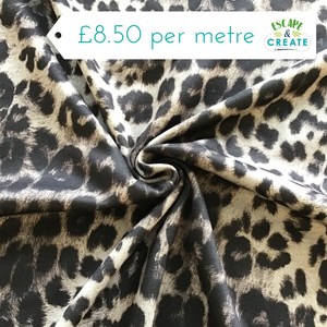 Scuba Leopard Print on Grey
