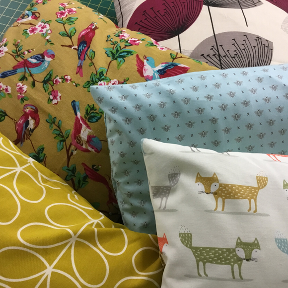 Learn to Sew Cushions - Saturday 14th March 10am-1pm