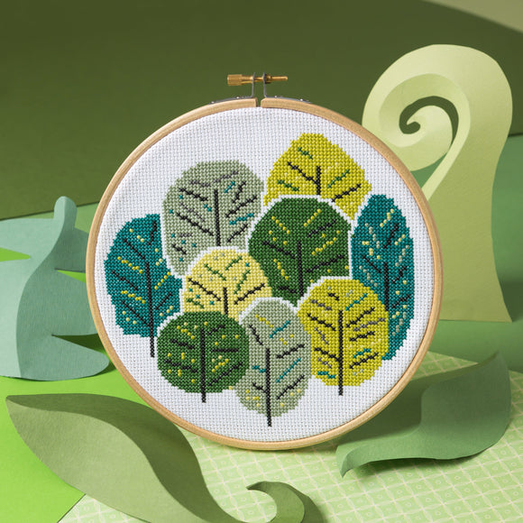 Summer Trees Cross Stitch by Hawthorn Handmade