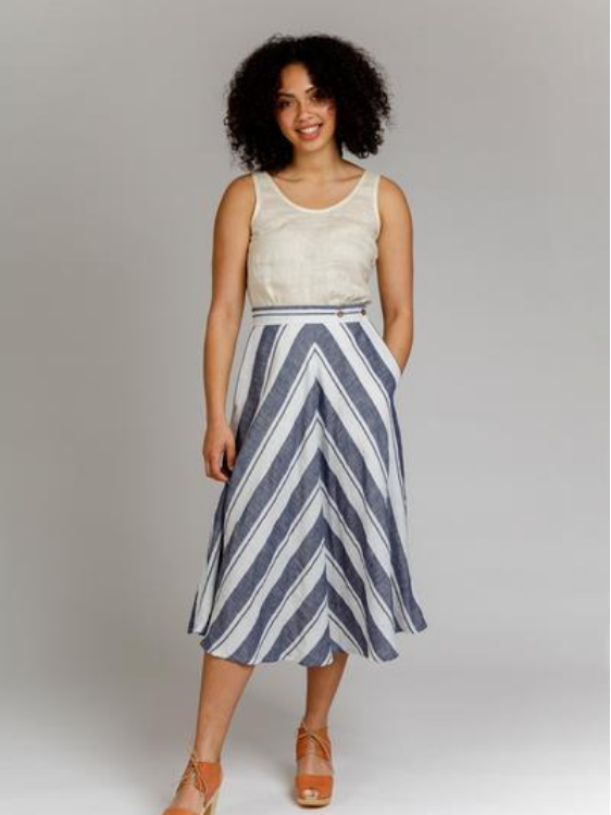 Wattle Skirt Pattern by Megan Nielsen Patterns
