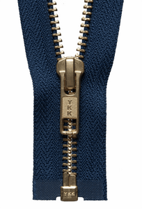 Brass Open Ended Zip 30cm Col 919 Navy