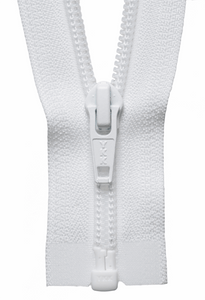 Nylon Chunky Open Ended Zip 66cm Col 501 White