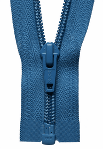 Nylon Chunky Open Ended Zip 41cm Col 557 Saxe Blue