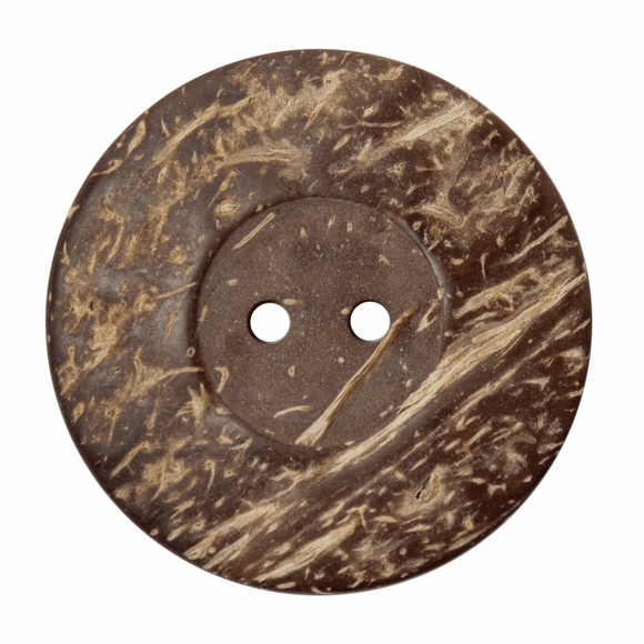 Button Wood 2 Hole 50mm Round Natural