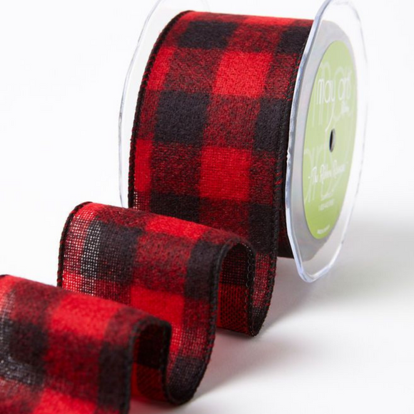 Ribbon Buffalo Check with Wired Edge 2.5