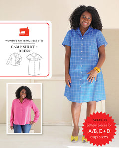 Camp Shirt & Dress Pattern by Liesl & Co