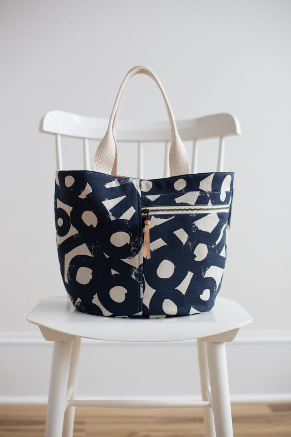 Crescent Tote Bag Pattern from Noodlehead