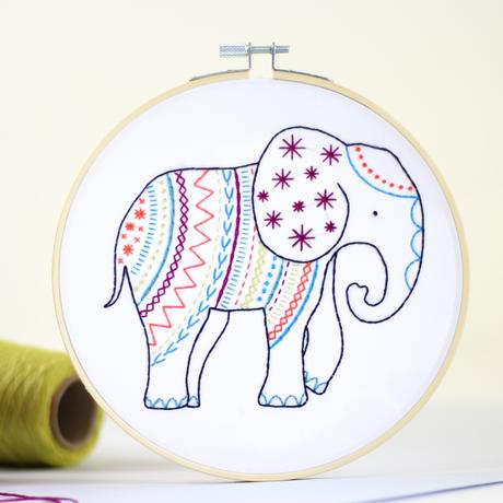 Hawthorn Handmade Embroidery Kit - Elephant