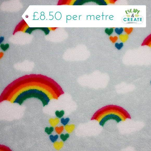 Fleece Rainbow Clouds Cuddle Fleece