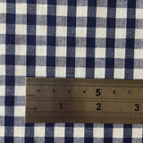 "100% Cotton 1/4"" Navy Gingham"