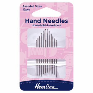 Hand Sewing Needles Household Assorted (pack of 12) by Hemline