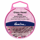 Pins Glass Head 34mm (pack of 95) by Hemline