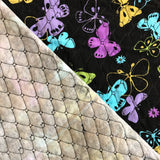 Pre-Quilted Fabric Butterflies on Black