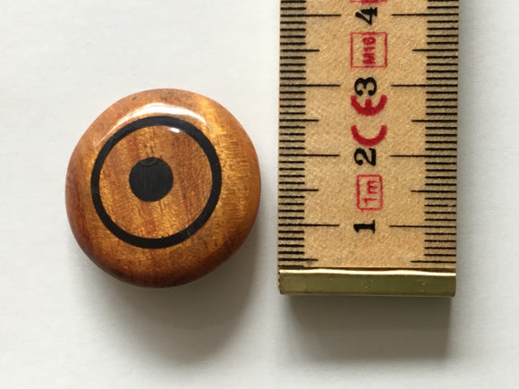 Button 30mm Round Painted Wooden with Shank
