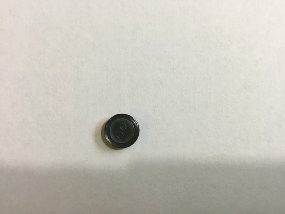 Button 10mm Round Grey