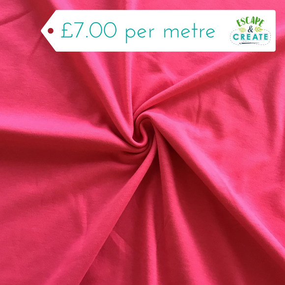 Jersey Plain in Cerise (Cotton)