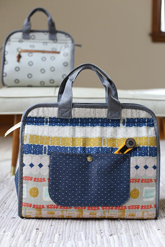 Makers Tote Bag Pattern from Noodlehead