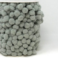 Pom Pom Trim 15mm in Grey