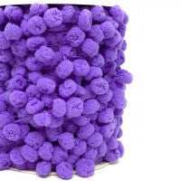 Pom Pom Trim 15mm in Lilac