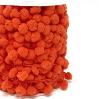 Pom Pom Trim 15mm in Orange