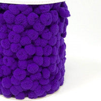 Pom Pom Trim 15mm in Purple