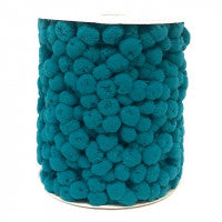 Pom Pom Trim 15mm in Teal