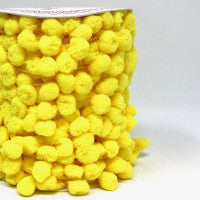 Pom Pom Trim 15mm in Yellow