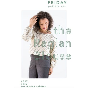 Raglan Blouse Pattern from Friday Pattern Co (unisex)