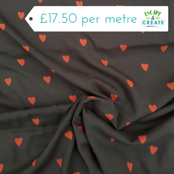 Tencel by Lady McElroy Love Hearts
