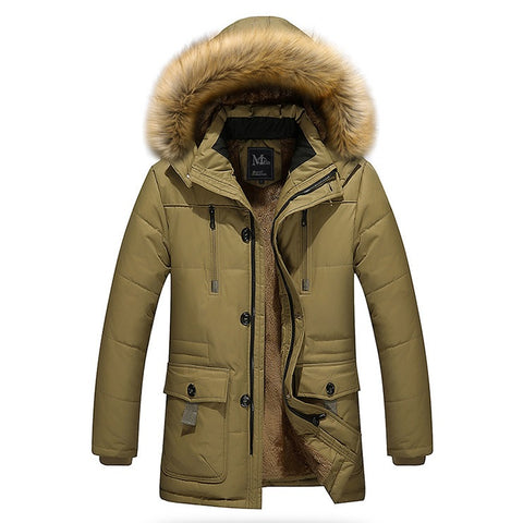 Estradex City Hooded Fur Jacket