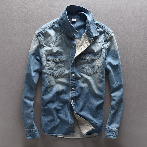 Vintage Concept Denim Shirt