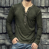 Vintage Faded Casual Long-Sleeve T-Shirt