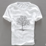 Premium Tree Embroider Cotton T-Shirt