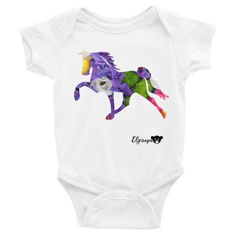 ElyDays Limited Designer Animal Edition  Horse Infant Bodysuit