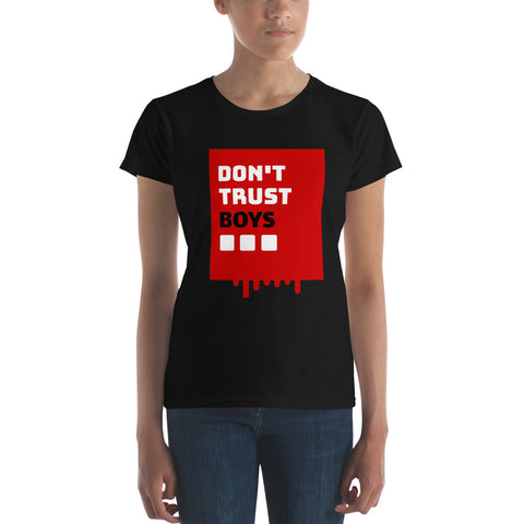 Coded Limited Edition Dont Trust Boys Women's short sleeve t-shirt
