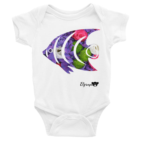 ElyDays Limited Designer Animal Edition Fish Infant Bodysuit