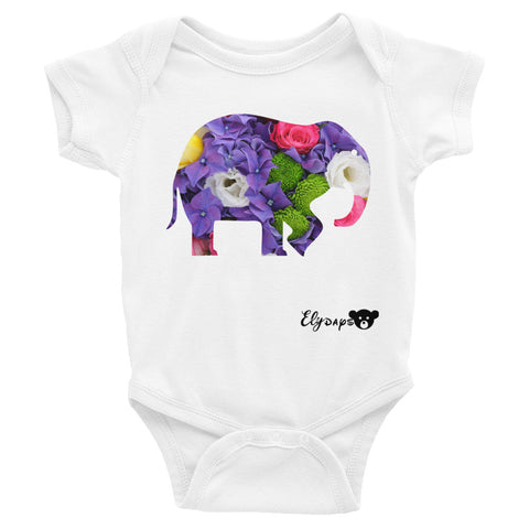 ElyDays Limited Designer Animal Edition  Elephant Infant Bodysuit