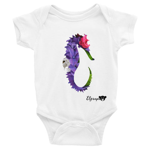 ElyDays Limited Designer Animal Edition  Sea Horse Infant Bodysuit