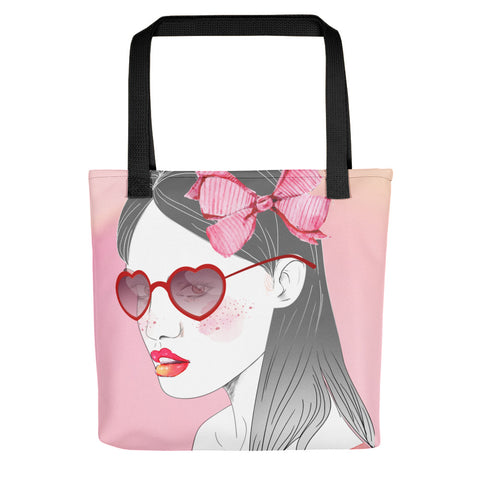 PopRee Limited Edition Not Like Others Pink Tote bag