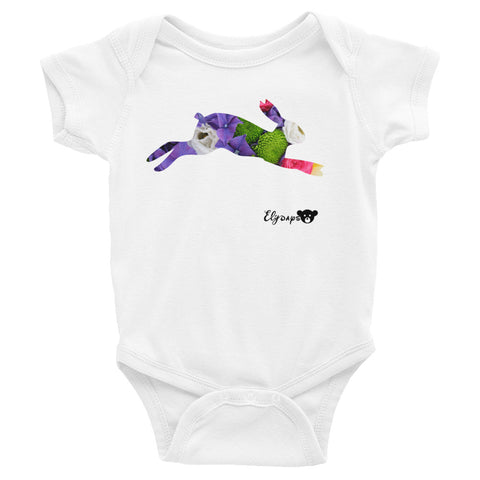 ElyDays Limited Designer Animal Edition  Rabbit Infant Bodysuit