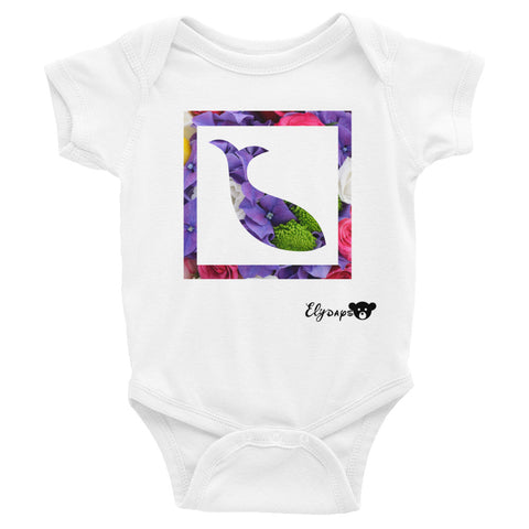 ElyDays Limited Designer Animal Edition  Dolphine Infant Bodysuit