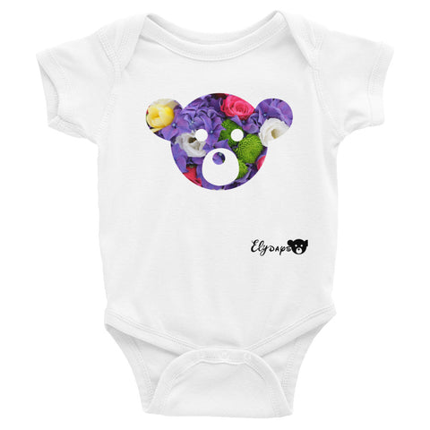 ElyDays Limited Designer Animal Edition  Bear Face Infant Bodysuit