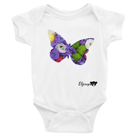 ElyDays Limited Designer Animal Edition  Butterfly Infant Bodysuit