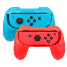 2 Pack for Nintendo Switch Joy-Con Grips with 4 Analog Stick Caps - Black / Blue / Red