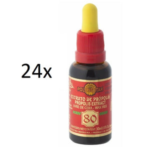 Lot of 24x30ml Original Green Bee Propolis Extract 80 Wax Free - Polenectar