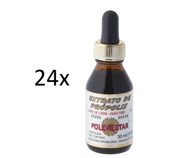Lot of 24x30ml Original Green Bee Propolis Extract 60 Wax Free - Polenectar